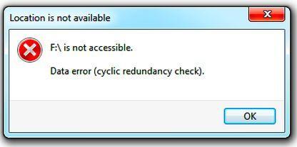 Data Error (Cyclic Redundancy Check) Error – What Does It Mean?