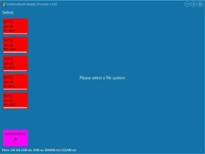 GetDataBack Simple - Select File System