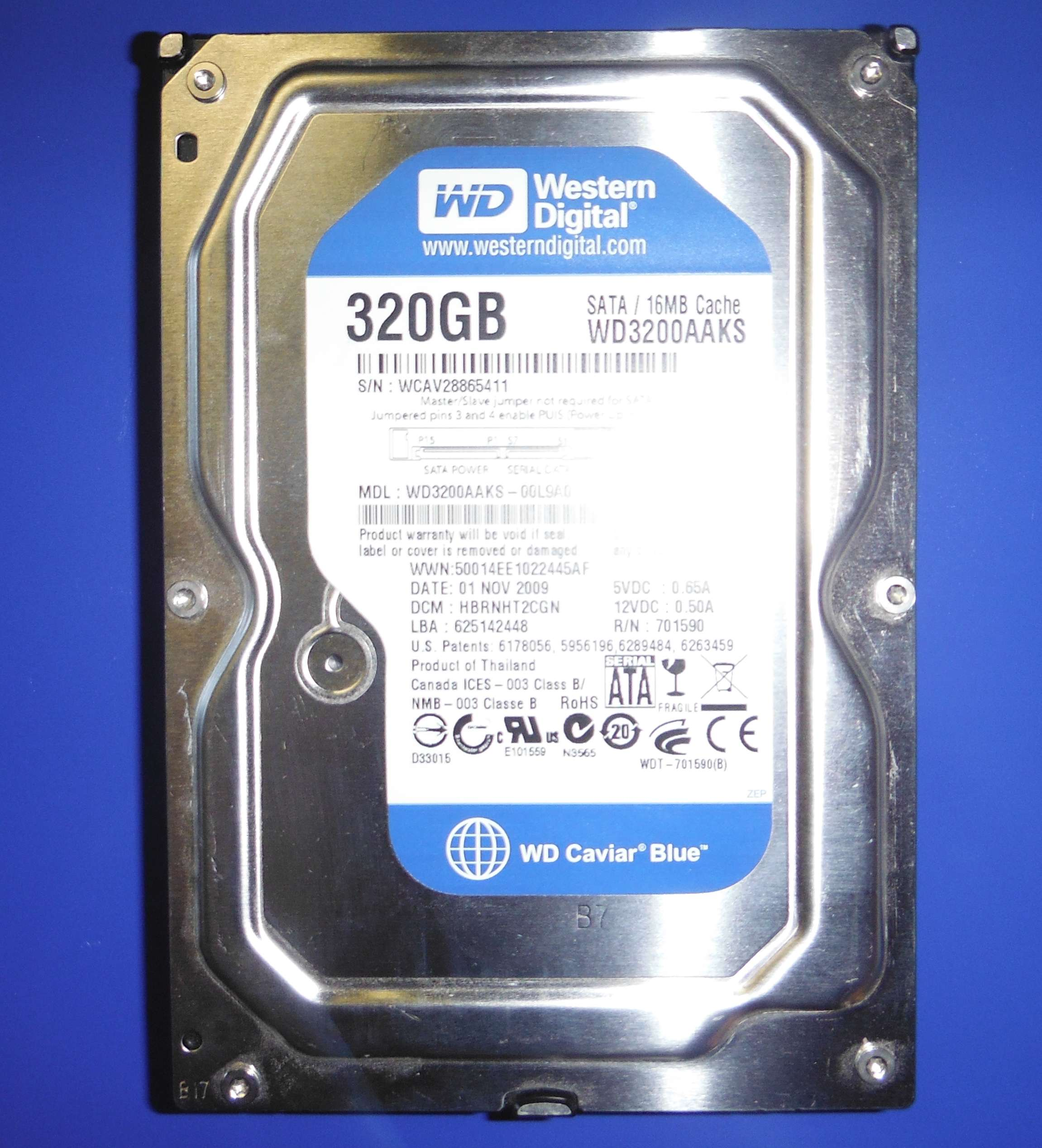 320GB, WD3200AAKS
